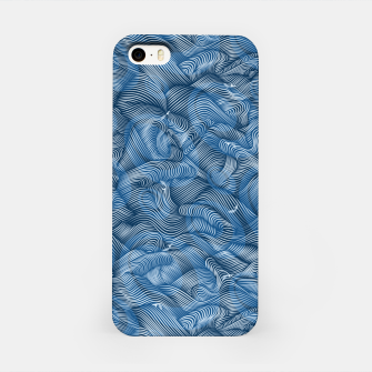 Slippery Fishes Floating in the Classic Blue Waves iPhone Case Bild der Miniatur