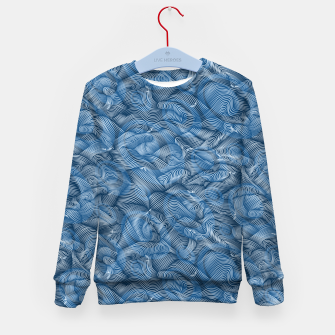 Miniatur Slippery Fishes Floating in the Classic Blue Waves Kid's sweater, Live Heroes