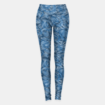 Miniatur Slippery Fishes Floating in the Classic Blue Waves Leggings, Live Heroes