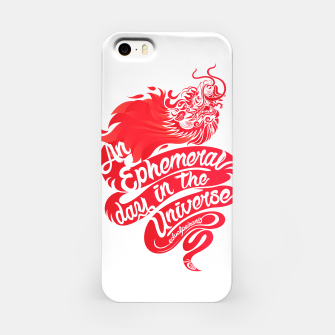 Miniaturka An Ephemeral Day In The Universe by #edualpeirano iPhone Case, Live Heroes