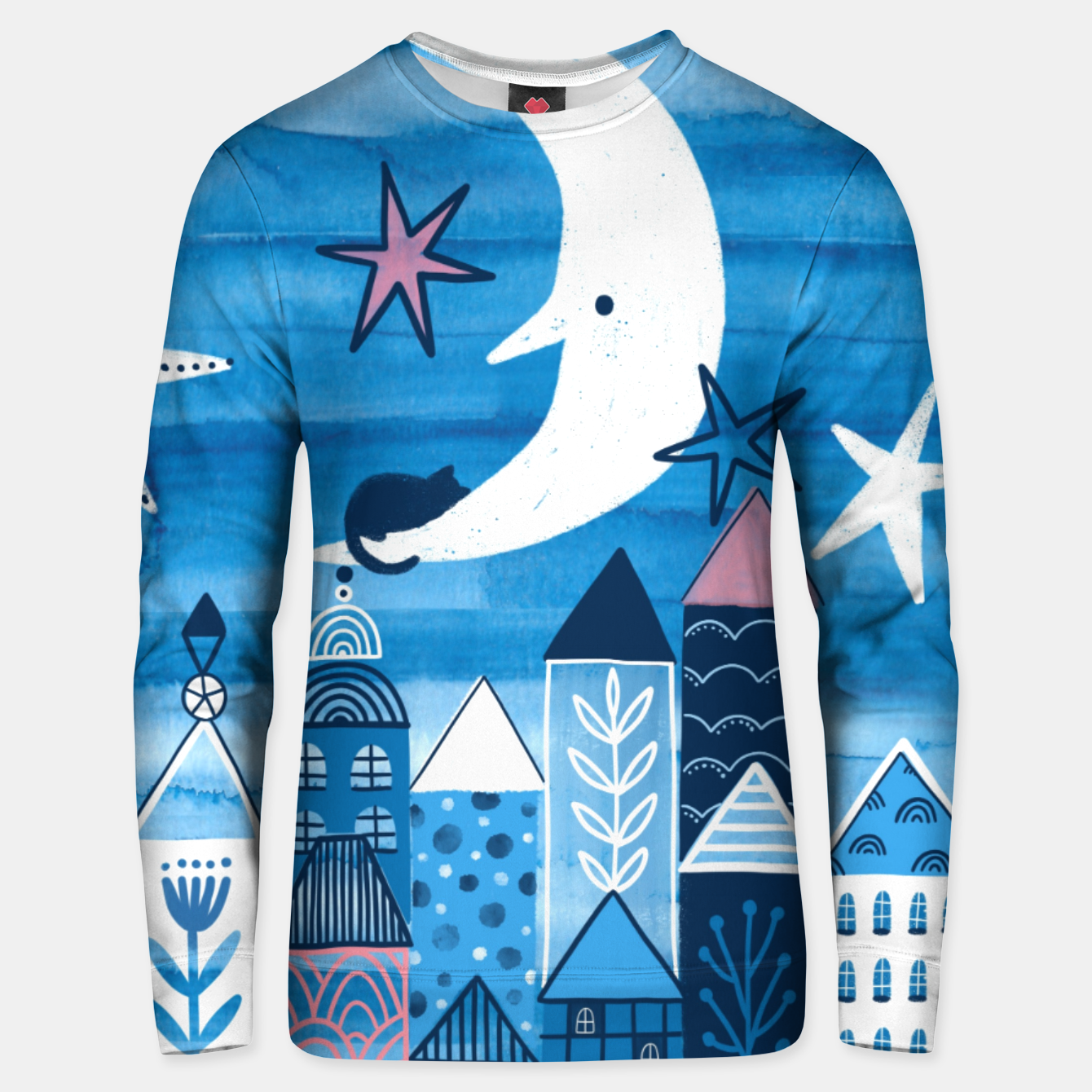 Zdjęcie Night in the city Unisex sweater - Live Heroes