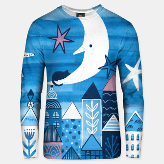 Night in the city Unisex sweater obraz miniatury