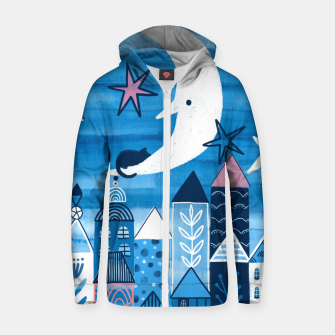 Night in the city Zip up hoodie obraz miniatury