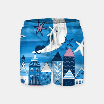 Night in the city Swim Shorts obraz miniatury