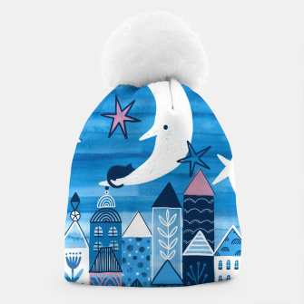 Night in the city Beanie obraz miniatury