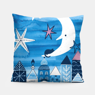 Night in the city Pillow obraz miniatury