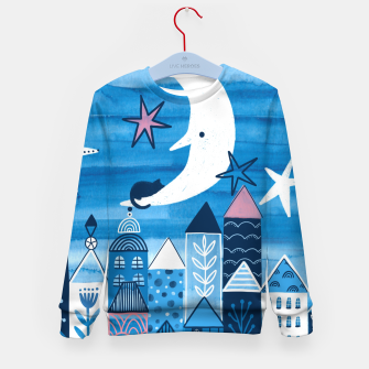 Night in the city Kid's sweater obraz miniatury