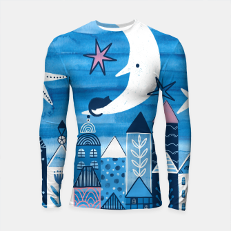 Night in the city Longsleeve rashguard  obraz miniatury
