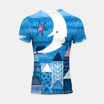 Night in the city Shortsleeve rashguard obraz miniatury