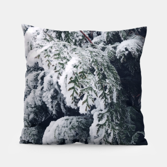 Thumbnail image of thuja brabant in the snow Poduszka, Live Heroes