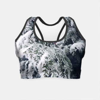 Thumbnail image of thuja brabant in the snow Crop Top, Live Heroes