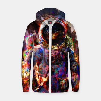 Thumbnail image of astronaut Zip up hoodie, Live Heroes