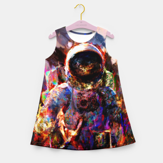 Miniaturka astronaut Girl's summer dress, Live Heroes