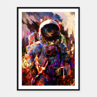 Thumbnail image of astronaut Framed poster, Live Heroes