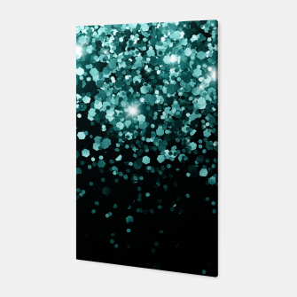 Thumbnail image of Teal Mermaid Ocean Glitter #3 (Faux Glitter) #shiny #decor #art Canvas, Live Heroes