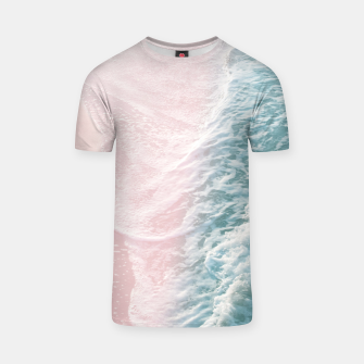 Thumbnail image of Soft Teal Blush Ocean Dream Waves #1 #water #decor #art T-Shirt, Live Heroes