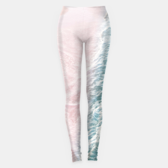 Thumbnail image of Soft Teal Blush Ocean Dream Waves #1 #water #decor #art Leggings, Live Heroes