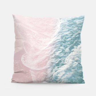 Thumbnail image of Soft Teal Blush Ocean Dream Waves #1 #water #decor #art Kissen, Live Heroes