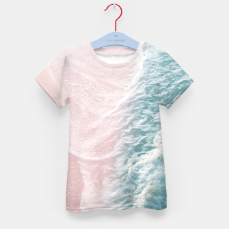 Thumbnail image of Soft Teal Blush Ocean Dream Waves #1 #water #decor #art T-Shirt für kinder, Live Heroes