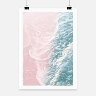 Thumbnail image of Soft Teal Blush Ocean Dream Waves #1 #water #decor #art Plakat, Live Heroes
