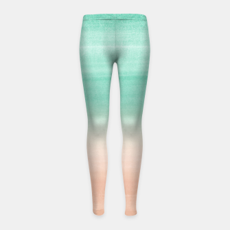 Miniaturka Touching Soft Emerald Beige Watercolor Abstract #1 #painting #decor #art Kinder-Leggins, Live Heroes