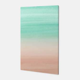 Miniaturka Touching Soft Emerald Beige Watercolor Abstract #1 #painting #decor #art Canvas, Live Heroes