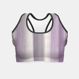Miniaturka Purple Gray Watercolor Dream #1 #painting #decor #art Crop Top, Live Heroes
