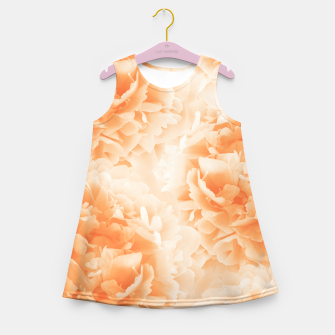Miniature de image de Orange Peonies Dream #1 #floral #decor #art Mädchen-Sommerkleid, Live Heroes