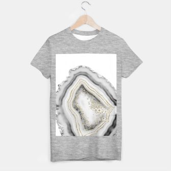 Miniature de image de White Agate Gold Foil Glam #1 #gem #decor #art T-Shirt regulär, Live Heroes