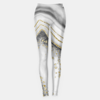 Miniature de image de White Agate Gold Foil Glam #1 #gem #decor #art Leggings, Live Heroes