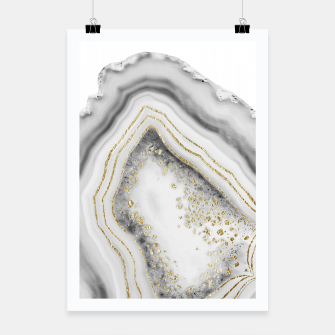Miniature de image de White Agate Gold Foil Glam #1 #gem #decor #art Plakat, Live Heroes