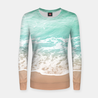 Miniature de image de Soft Emerald Beige Ocean Beauty Dream #1 #wall #decor #art  Frauen sweatshirt, Live Heroes