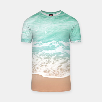 Miniature de image de Soft Emerald Beige Ocean Beauty Dream #1 #wall #decor #art  T-Shirt, Live Heroes