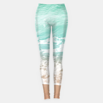 Miniature de image de Soft Emerald Beige Ocean Beauty Dream #1 #wall #decor #art  Leggings, Live Heroes