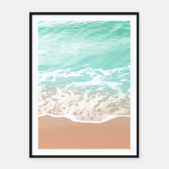 Miniature de image de Soft Emerald Beige Ocean Beauty Dream #1 #wall #decor #art  Plakat mit rahmen, Live Heroes