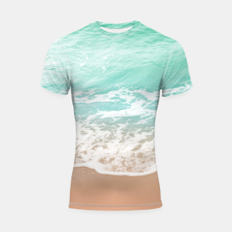 Miniature de image de Soft Emerald Beige Ocean Beauty Dream #1 #wall #decor #art  Shortsleeve rashguard, Live Heroes