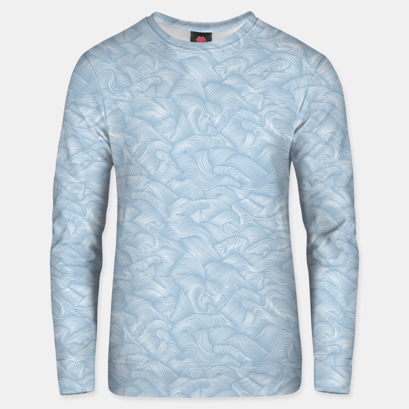 Foto Silky Waves of the Boundless Blue Sea Unisex sweater - Live Heroes