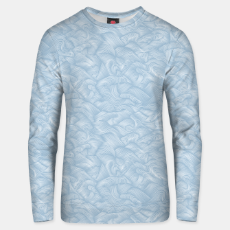 Silky Waves of the Boundless Blue Sea Unisex sweater Bild der Miniatur