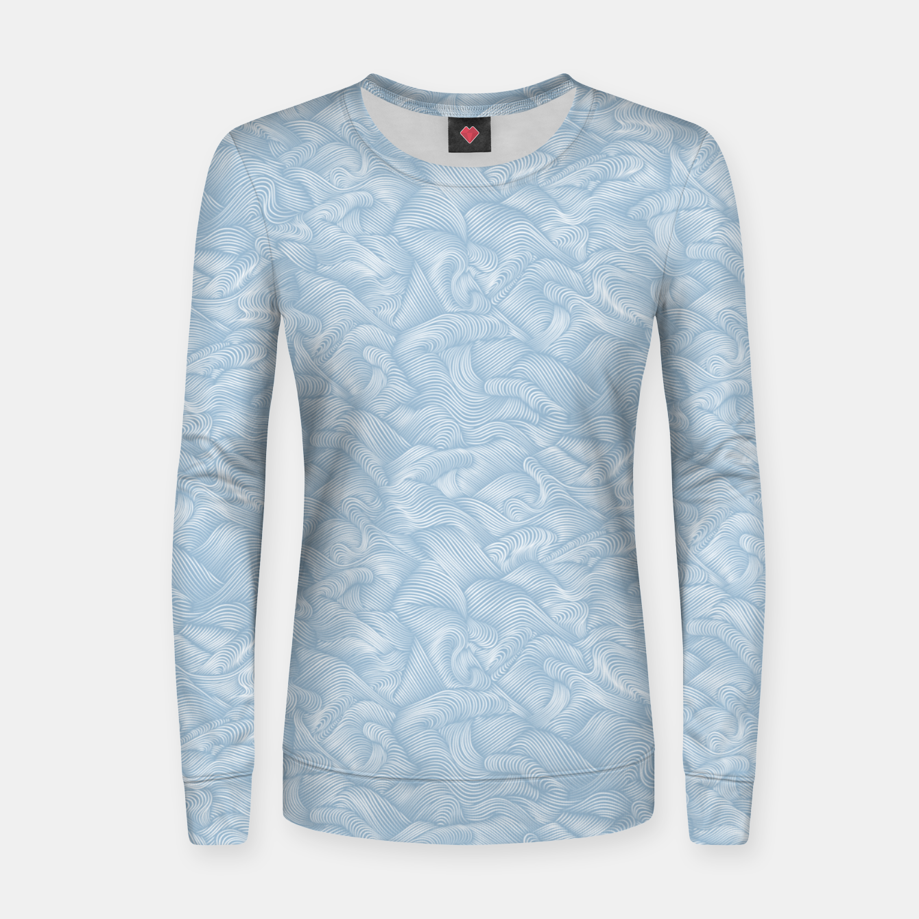 Foto Silky Waves of the Boundless Blue Sea Women sweater - Live Heroes