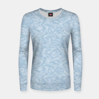 Miniatur Silky Waves of the Boundless Blue Sea Women sweater, Live Heroes