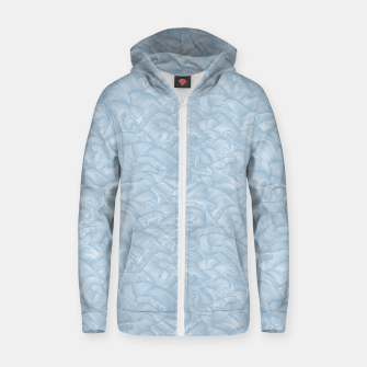 Miniatur Silky Waves of the Boundless Blue Sea Zip up hoodie, Live Heroes