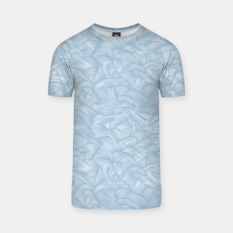 Silky Waves of the Boundless Blue Sea T-shirt Bild der Miniatur