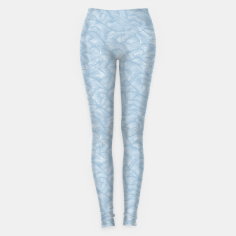 Silky Waves of the Boundless Blue Sea Leggings Bild der Miniatur