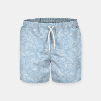 Miniatur Silky Waves of the Boundless Blue Sea Swim Shorts, Live Heroes