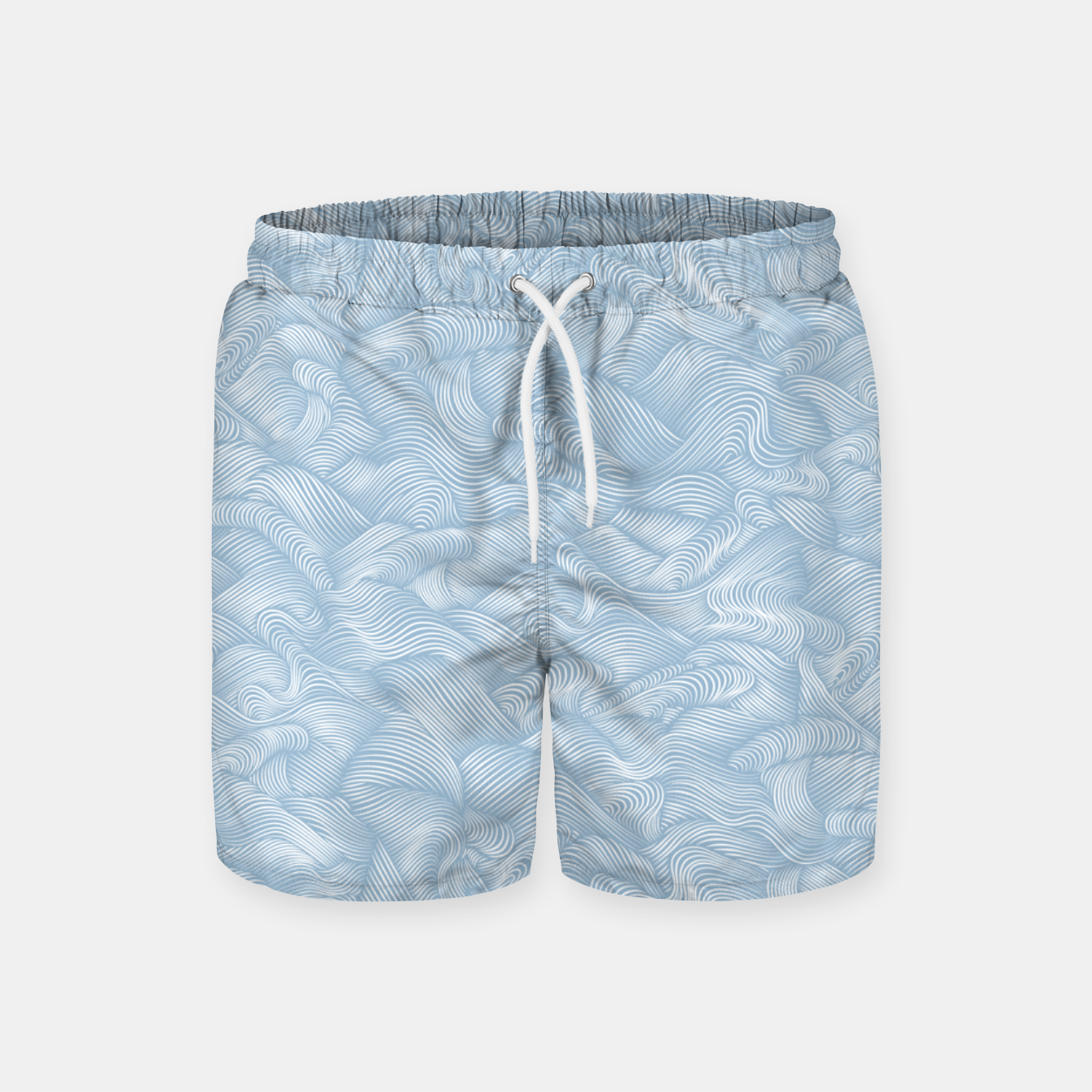 Foto Silky Waves of the Boundless Blue Sea Swim Shorts - Live Heroes