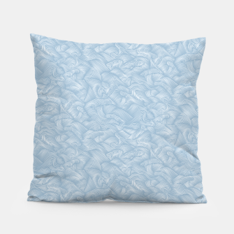 Silky Waves of the Boundless Blue Sea Pillow Bild der Miniatur
