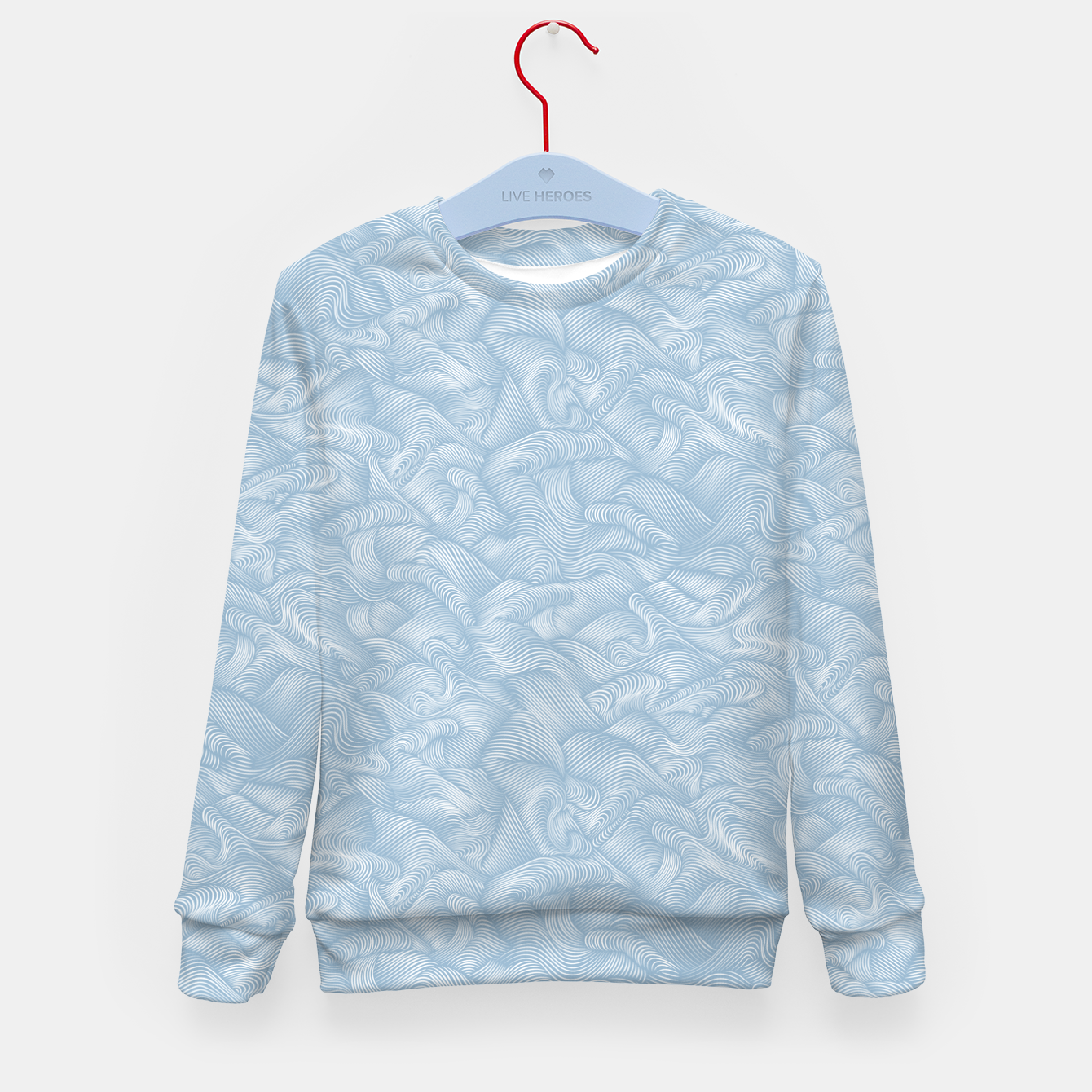 Foto Silky Waves of the Boundless Blue Sea Kid's sweater - Live Heroes