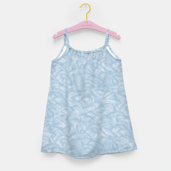 Silky Waves of the Boundless Blue Sea Girl's dress Bild der Miniatur