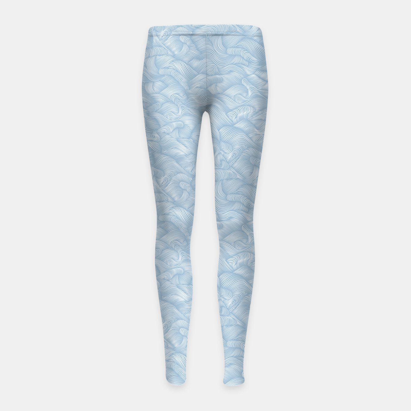 Foto Silky Waves of the Boundless Blue Sea Girl's leggings - Live Heroes