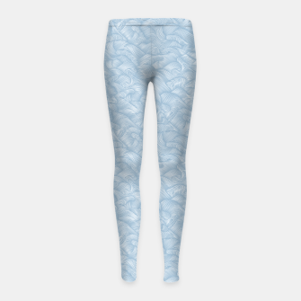 Silky Waves of the Boundless Blue Sea Girl's leggings Bild der Miniatur